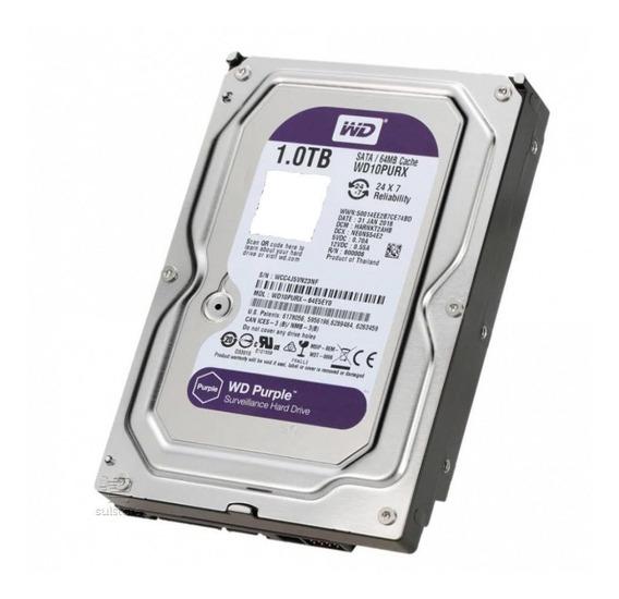 Hd Interno Western Digital 1tb Purple Surveillance Cftv Dvr - Envio Imediato