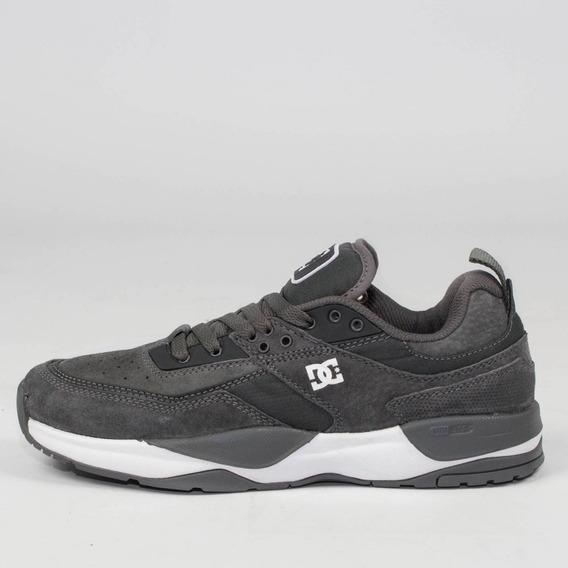 Tênis Sneaker Dc Shoes Tribeka Cinza Escuro Pewter + Frete