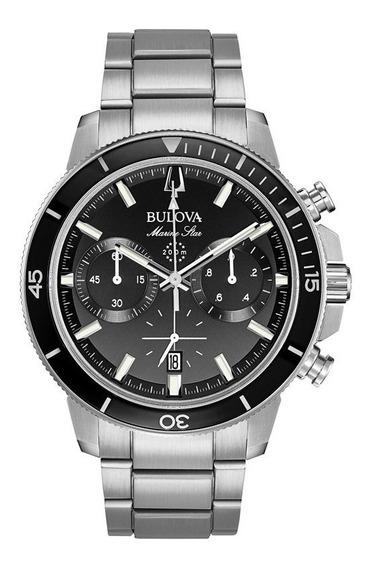 Relógio Bulova Marine Star Chronograph Aço Preto 96b272