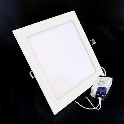 Painel Plafon Led 25w Frio Quadrado Luminaria Embutir