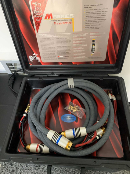 Cabo Speaker. Monster Cable Biwire M2.4s