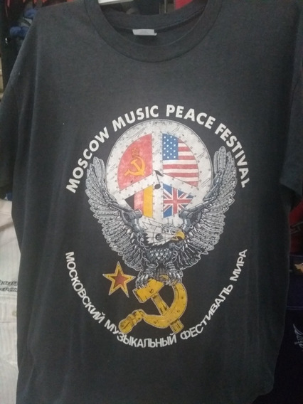Playera Vintage Moscow Music Peace Festival 1989