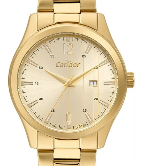 Relógio Masculino Condor Dourado Co2115kuz/4x Original + Nf
