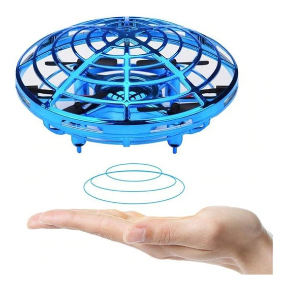Drone Mão Anticolisão Abs Sensor Indução Ufo Rgb Interativo