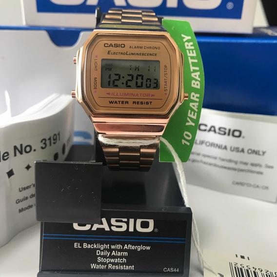 Reloj Casio A168 Oro Rosa Gold Nuevo Vintage Original