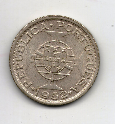 Mozambique Moneda 20 Escudos 1952 Plata Km#80 - Argentvs