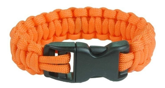 Pulseira Bracelete Survival Laranja