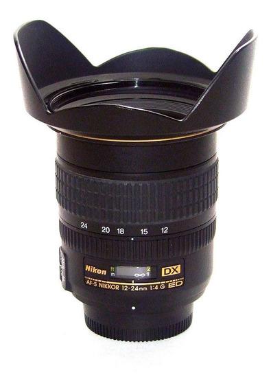 Lente Nikon Af-s Dx Zoom-nikkor 12-24mm F/4g If-ed Seminova