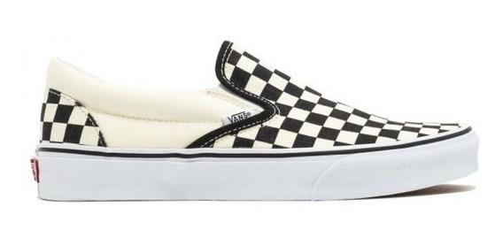 Zapatilla Vans U Classic Slip Black White Check Vn000eyebww