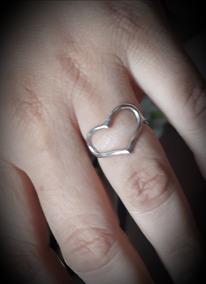Anel Coração Em Prata