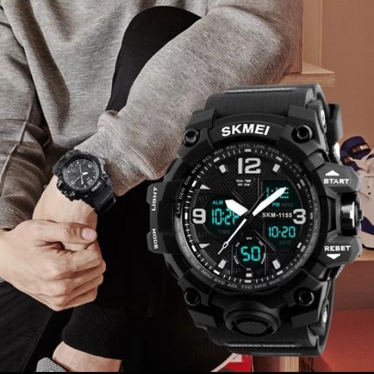 Relógio Analógico E Digital Skmei 1155b