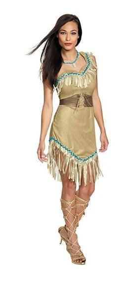 Vestido Pocahontas Disney Disfraz Halloween Mujer Adulto