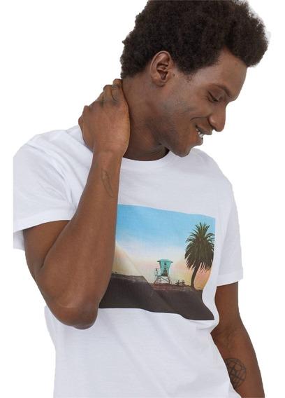 Remera Hombre H&m - Estampada Talle M - Blackcloset Store