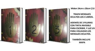 3 Libros Con Mensajes Ocultos Diario 1 + 2 + 3 Gravity Falls