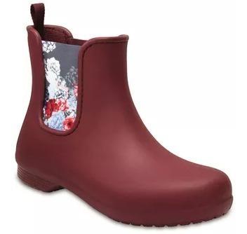 Botas Crocs Mujer Freesail Chelsea Boot W Bordo 204630612