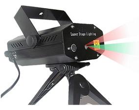 Mini Laser Stage Lighting Projetor Holográfico Tripe