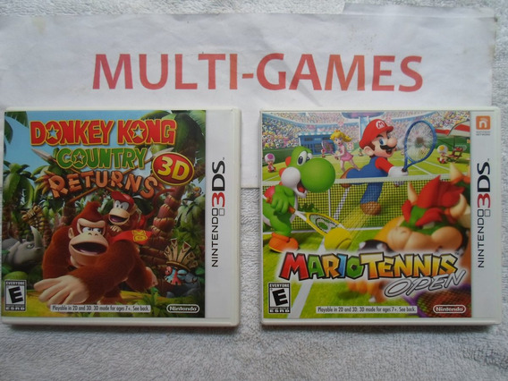 Donkey Kong Country Returns + Mario Tennis Nintendo 3ds.
