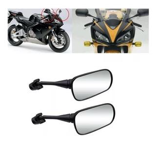 2 Espejos Espejo Ovalado Para Moto
