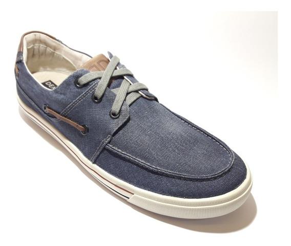 Sapatênis, Dockside, Tênis Urban Plot Democrata Jeans Azul/tabaco Ou Smoke/tabaco Ref:209106