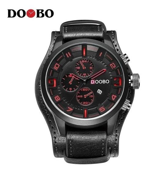 Relógio Curren Doobo D033 Em Couro Militar