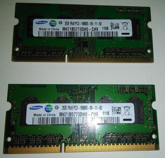 Memorias Samsung Sodimm Pc3-10600s 2gb