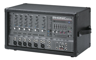Phonic 620 Plus 6 Canales Potencia 2x100w.