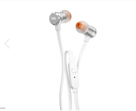 Fone Jbl T290 In Ear Microfone Harman Prata Ou Rose (cgd)