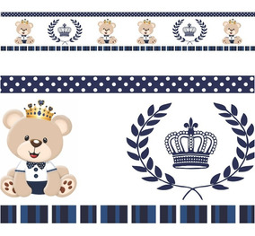 Faixas Border Urso Principe Modelo 04 - 5 Metros