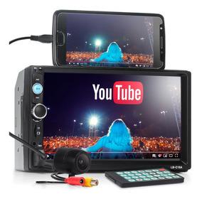 Kit Central Multimídia Universal Leboss 2 Din 240w Camera Ré