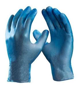 Luva Descartável Vinil Danny Maxvinil Azul Cx 100 Unid
