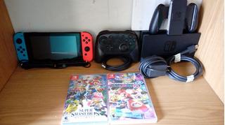Nintendo Switch ; Control Pro, Con Dos Juegos