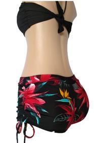 Biquíni Com Top - Shortinho Sunkini E Top Cropped