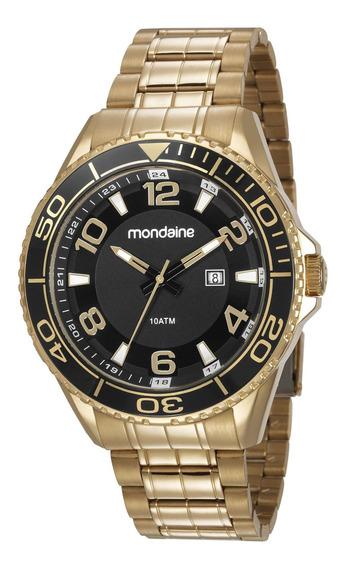 Relógio Mondaine Masculino Dourado 83414gpmvds2