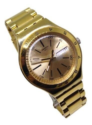 Relógio De Pulso Swatch Dourado Feminino Webclock U09840