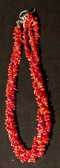 Rdf0433 - Colar Vintage De Corais Vermelhos