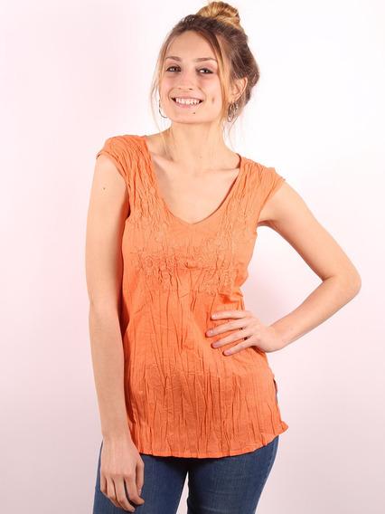 Blusa Mujer Bordada Sin Manga Camisa Remera Importada #60347