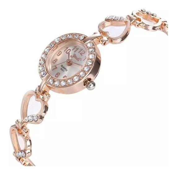 Relógio Pulseira Feminina Mais Vendidos Dourado Ou Prata