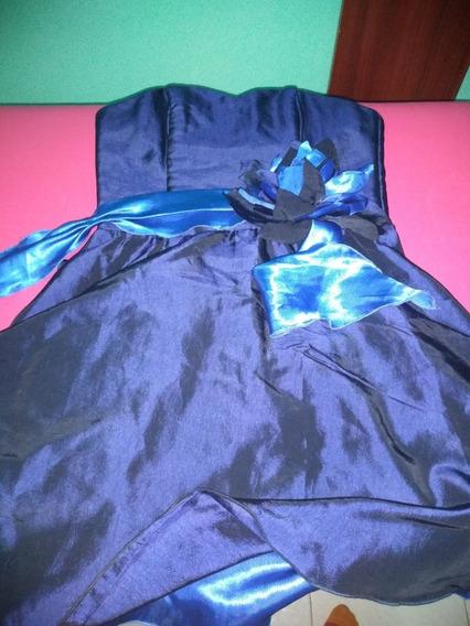 Vestido De Fiesta Talle S Azul Marino Y Turquesa