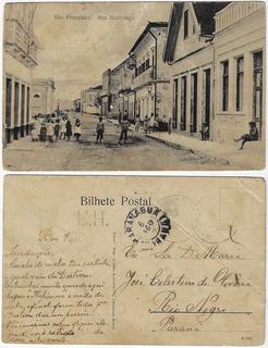 Sc 1906 Cartão Postal Foto Rua Babitonga São Francisco Sul