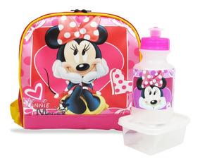 Lancheira, Merendeira Minnie Mouse Térmica + Squeeze E Pote