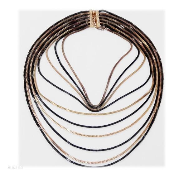 Collar Con 10 Cadenas Metalicas
