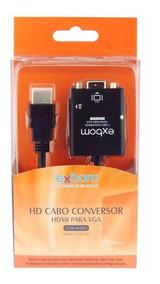 Conversor Adaptador Hdmi Vga Audio P2 Games Tv Pc Note F