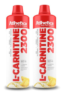 2x L-carnitina 2300 960ml - Atlhetica Nutrition