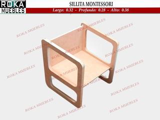 Silla Infantil Cubo Montessori 3 Posiciones Roka