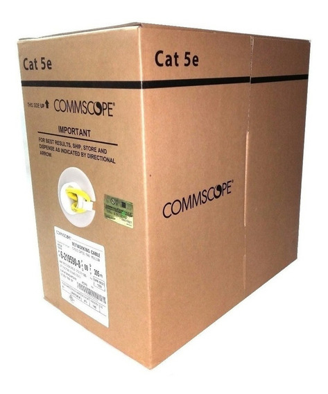 Cable Utp Cat 5e Amp Commscope - Bobina Caja 305 M