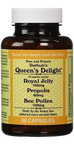 Queens Delight Jalea Real 1000 Mg, Durhams Bee