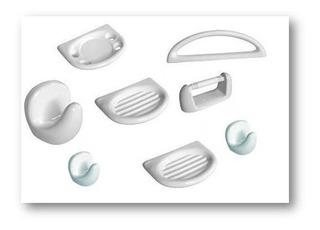 Set Kit Accesorio Baño 8 Piezas Loza Blanca El Mas Vendido!!