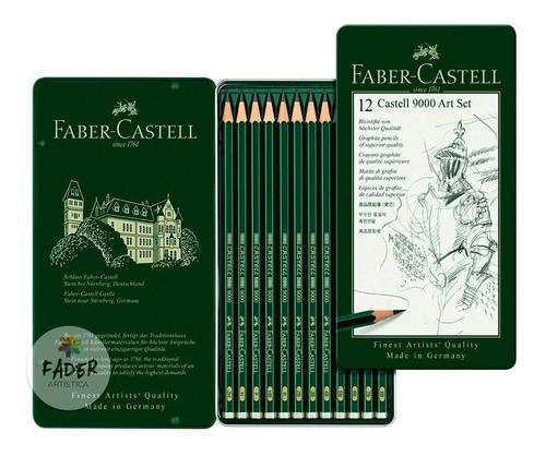 Lapices Faber Castell Grafito 9000 X12 Unidades Barrio Norte