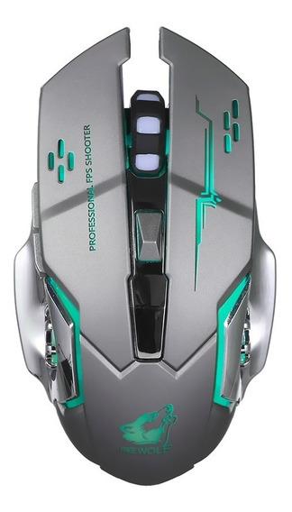 Free Wolf Wireless Gaming Mouse 2400 Dpi 7 Respira??o Luzes