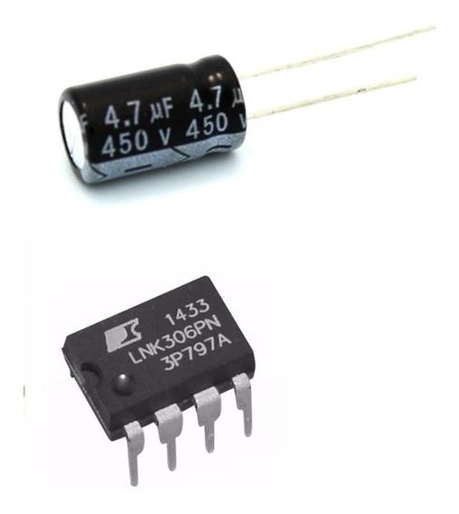 10 Ci Lnk306pn Lnk306 + 20 Capacitor 4,7uf 4.7uf X 450v